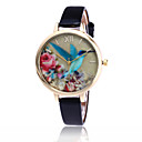 cheap Fashion Watches-Women's Quartz Wrist Watch Cool / Casual Watch PU Band Flower / Casual / Fashion Black / White / Blue / Red / Brown / Green / Pink