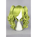 cheap Costume Wigs-Synthetic Wig / Cosplay & Costume Wigs Curly With Ponytail Synthetic Hair Green Wig Women's Short Capless