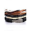 cheap Men's Bracelets-Men's Women's Leather Bracelet - Leather Punk Bracelet Black For Gift Valentine