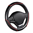 cheap Steering Wheel Covers-AUTOYOUTH Car Steering Wheel Cover Sporty Wave Pattern with Red Line Stitching M size Fits 38cm/15 Diameter Car Accessories