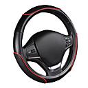 voordelige Stuurhoezen-autoyouth auto stuurwiel sportief golfpatroon met rode lijn stiksel m size fits 38cm / 15 diameter autoaccessoires