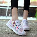 hesapli Moda Bileklikler-Kadın's Ayakkabı Naylon / Tül Bahar / Yaz / Sonbahar Rahat Atletik Ayakkabılar Koşu Düşük Topuk Yuvarlak Uçlu Atletik / Dış mekan için Bağcıklı Beyaz / Siyah