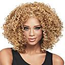 billige Syntetiske parykker uten hette-Syntetiske parykker Krøllet / Afro Blond Syntetisk hår Blond Parykk Dame Medium Lengde Lokkløs Blond