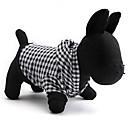 abordables Ropa para Perro-Gato Perro Saco y Capucha Ropa para Perro Ajedrez Negro Algodón Disfraz Para mascotas