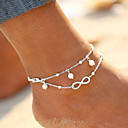 cheap Rings-Double Layered Anklet / Leg Chain - Imitation Pearl Infinity Bohemian, Natural, Fashion Women's Gold / Silver Body Jewelry For Wedding / Birthday / Gift / Casual