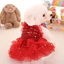 זול קערות כלבים & האכלה-חתול כלב שמלות בגדים לכלבים נסיכות אדום ורוד בד תחפושות עבור חיות מחמד חמוד