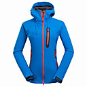 cheap Softshell, Fleece & Hiking Jackets-Women's Hiking Softshell Jacket Outdoor Spring Summer Thermal / Warm Breathable Top Softshell Camping / Hiking Snowsports Backcountry LightBlue / Fuchsia / Light Purple