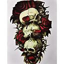 billige Midlertidige tatoveringer-1 pcs Tatoveringsklistremerker midlertidige Tatoveringer Blomster Serier kropps~~POS=TRUNC arm / skulder
