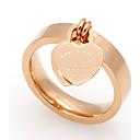 billige Smykke Sett-Dame Band Ring - Titanium Stål Hjerte 6 / 7 / 8 Gull / Sølv / Rose Til Bryllup / Fest / Spesiell Leilighet