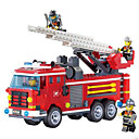 cheap Building Blocks-ENLIGHTEN Building Blocks 907 pcs Fire Engine DIY Classic Gift