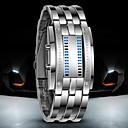 levne Vojenské hodinky-Pánské Náramkové hodinky Digitální hodinky Digitální Nerez Černá / Stříbro 30 m Voděodolné LED Digitální Luxus - Černá Stříbrná