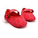 olcso Lány ruhák-Lány Cipő Szövet Tavasz Első cipő Lapos Csokor / Tépőzár mert Gyermek Fekete / Piros / Rózsaszín / Party és Estélyi
