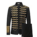 cheap Historical & Vintage Costumes-Prince Cosplay Costume Blazer Jacket & Pants Tuxedo Suits & Blazers Men's Rococo Medieval 18th Century Napoleon Jacket Halloween Carnival Festival / Holiday Outfits Black Plus Size Solid Colored