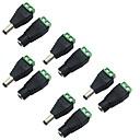 abordables Cámaras CCTV-5 paquetes de 5.5 x 2.1 mm de potencia de barril 12 v macho a hembra enchufe de conector de adaptador de corriente CC para la cámara de seguridad cctv tira llevada