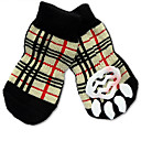 cheap Dog Clothes-Cat Dog Socks Cute Casual/Daily Holiday Birthday Reversible Keep Warm Fashion Sports Wedding Plaid/Check Rainbow For Pets
