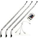 tanie Akcesoria do Oświetlenia-ZDM® 3 M Światła LED podłużne 180 Diody LED 5050 SMD RGB Wodoodporne / Pilot zdalnego sterowania / Przygaszanie 12 V / IP65 / Możliwość połączenia
