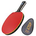 זול שולחן טניס-ZTON Ping Pang/מחבטי טניס שולחן עץ ידית ארוכה פצעונים 1 תיק טניס שולחן 1 מחבט -