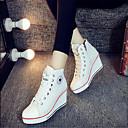 voordelige Damessneakers-Dames Schoenen Canvas Lente / Herfst Comfortabel Sneakers Sleehak Wit / Zwart / Rood
