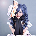 cheap Videogame Cosplay Wigs-wig set black butler ciel phantomhive classical color mixed two braided ponytail anime cosplay wig with cap high quality heat resistant Halloween