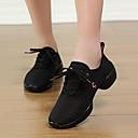 billige Moderne sko-Dame Moderne sko Tekstil Joggesko Flat hæl Kan ikke spesialtilpasses Dansesko Hvit / Svart