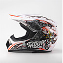 cheap Men's Bracelets-MEJIA Off-Road Motorcycle Racing Helmet Full Face Damping Durable Motorsport Helmet White/Orange Color