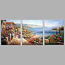 Χαμηλού Κόστους Αφηρημένοι Πίνακες-Hang-ζωγραφισμένα ελαιογραφία Ζωγραφισμένα στο χέρι - Τοπίο Μοντέρνα Καμβάς