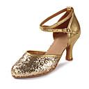 baratos Sapatos de Dança Moderna-Mulheres Sapatos de Dança Latina Glitter / Paetês / Couro Envernizado Sandália / Salto Lantejoulas / Gliter com Brilho / Presilha Salto