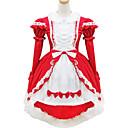 abordables Robe de Patinage-Doux Lolita Femme Tenue Cosplay Rouge Manches Courtes Courte / Mini Les costumes