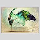 baratos Braceletes-Pintura a Óleo Pintados à mão - Abstrato Clássico Modern Tela de pintura