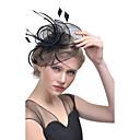 levne Ozdoby do vlasů na večírek-Dámské Klobouk Tek Renk Síťování Elegantní Módní Klips Látka