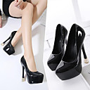 cheap Women's Sandals-Women's Shoes Patent Leather Summer Club Shoes Heels Pink / Black / Green / Burgundy / Party & Evening / Party & Evening
