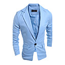 cheap LED String Lights-Men's Blazer-Solid Colored Stand / Long Sleeve