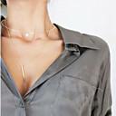 ieftine Coliere-Pentru femei Coliere Choker Coliere cu Pandativ Personalizat Ciucure Modă Euramerican Articole de ceramică Ștras Auriu Coliere Bijuterii Pentru Petrecere Ocazie specială Zilnic Casual În aer liber