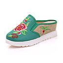 cheap Women's Oxfords-Women's Shoes Canvas Summer / Fall Comfort / Novelty / Slingback Oxfords Walking Shoes Wedge Heel Round Toe Flower Red / Green / Blue