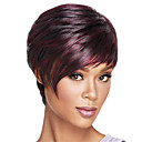 cheap Synthetic Capless Wigs-Synthetic Wig Straight Ombre Bob Haircut / Short Bob / With Bangs Synthetic Hair Heat Resistant / Ombre Hair Ombre Wig Women's Capless Dark Wine / Yes
