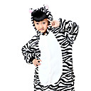 cheap Kigurumi Pajamas-Kid's Kigurumi Pajamas Zebra Onesie Pajamas Costume Flannel Toison Black / White Cosplay For Animal Sleepwear Cartoon Halloween Festival / Holiday / Christmas