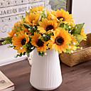 baratos Flor artificiali-Flores artificiais 1 Ramo Pastoril Estilo Girassóis Flor de Mesa