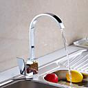 cheap Kitchen Faucets-Kitchen faucet - Contemporary / Art Deco / Retro / Modern Chrome Standard Spout Vessel / Single Handle One Hole