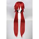رخيصةأون باروكات تنكرية-الاصطناعية الباروكات / باروكات مخصصة مستقيم شعر مستعار صناعي أحمر شعر مستعار للمرأة طويل دون غطاء أحمر