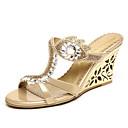 baratos Sandálias Femininas-Mulheres Sapatos Microfibra Verão / Outono Conforto / Inovador / Chanel Sandálias Caminhada Sem Salto / Salto Plataforma Dedo Aberto