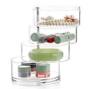 cheap Jewelry & Cosmetic Storage-Plastic Round Transparent Multifunction Transparent Body Home Organization, 1pc Drawers