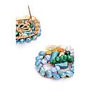 baratos Braceletes-Mulheres Cristal Brincos Curtos - Personalizada, Euramerican Azul Para Casamento / Festa / Parabéns