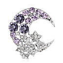 cheap Brooches-Women's Brooches - Rhinestone Fashion, Euramerican Brooch Purple / Blue For Wedding / Party / Special Occasion / Daily