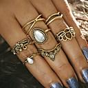 זול Fashion Ring-בגדי ריקוד נשים טבעת - סגסוגת כתר עיצוב מיוחד, וינטאג' מידה אחת One Size זהב / כסף עבור Party יומי קזו'אל / 7pcs