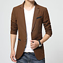 cheap Bluetooth Car Kit/Hands-free-Men's Simple Vintage Plus Size Blazer-Color Block / Long Sleeve / Work