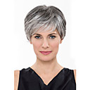 cheap Synthetic Capless Wigs-Synthetic Wig Straight Synthetic Hair Black Wig Women's Short Capless