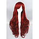 cheap Synthetic Capless Wigs-Synthetic Wig Curly Synthetic Hair Red Wig Women's Long Capless