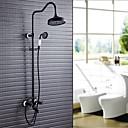 זול דיסק נייד USB-ברז למקלחת - עתיקה ארט דקו / רטרו מסורתי ברונזה ששופשפה בשמן מקלחת ואמבטיה שסתום קרמי
