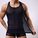 preiswerte Kigurumi Pyjamas-Herrn Super Sexy Gitter, Solide - Unterhemden