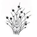 preiswerte Moderne zeitgemäße Wanduhren-Modern/Zeitgenössisch Blumen/Botanik Urlaub Inspirierend Familie Freunde Zeichentrickfilm Wanduhr,Neuheit Acryl Metall Innen/Aussen Uhr